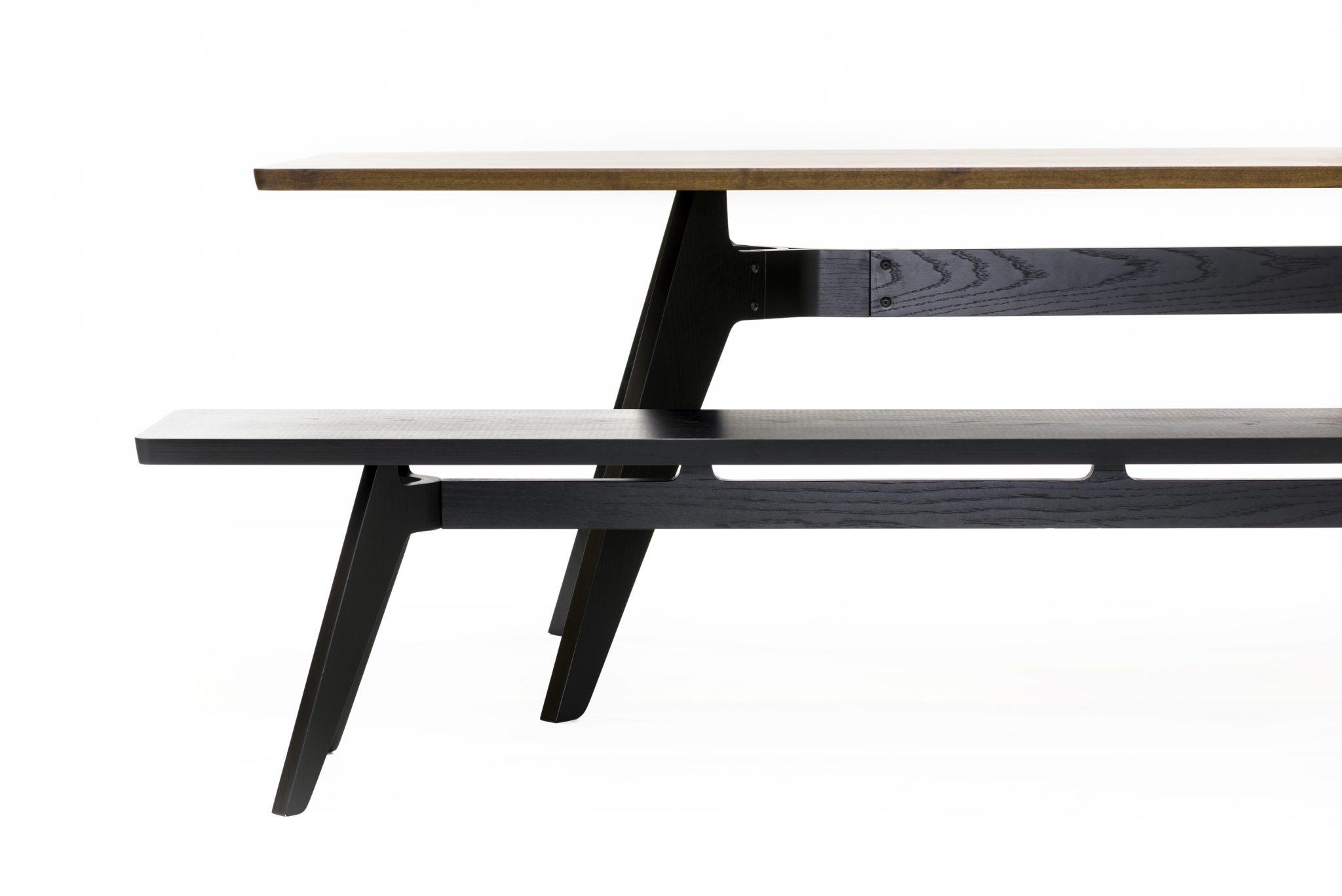Lavitta Stained Black Long Rectangular Dining Bench