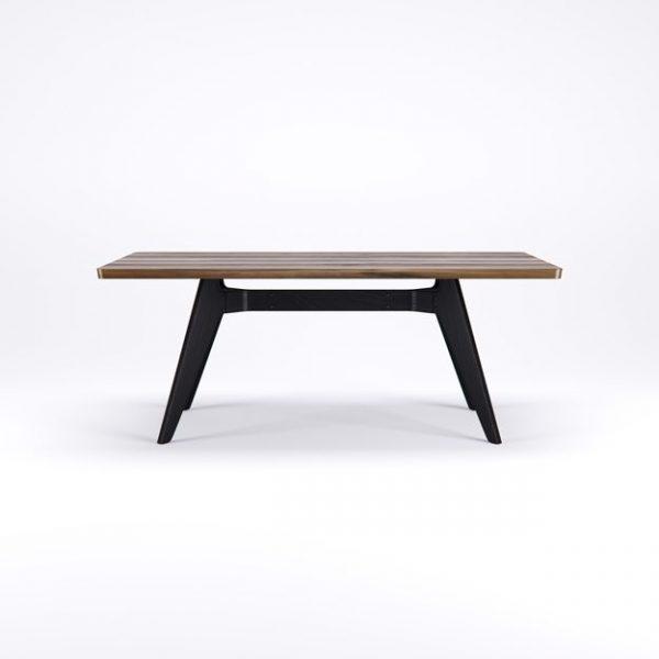 lavitta walnut rectangular dining table