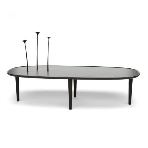 FIORI 140X65 BLACK OAK COFFEE TABLE WITH FLOWERS | BELLA CASA LONDON