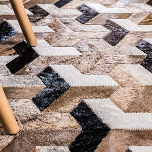 Infinity | Mosaic Hide Rug | Bella Casa London