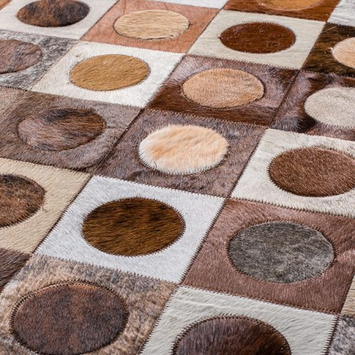 Dowel | Mosaic Hide Rug | Bella Casa London