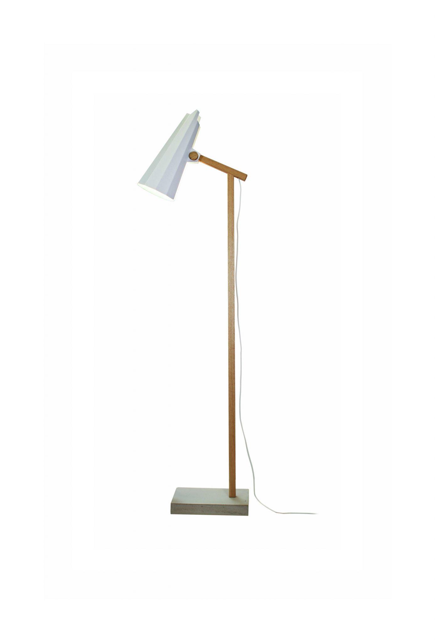 Filly Short Neck Floor Lamp Solid Oak