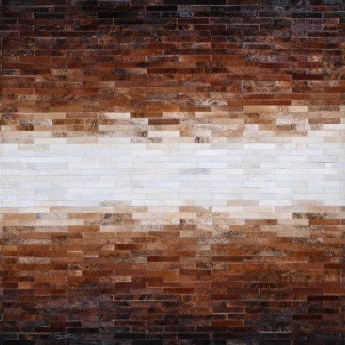 cowhide hand made rug mosaic