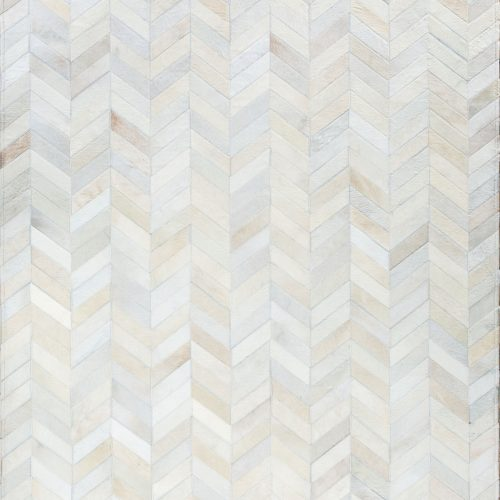 smoked chevron luxury cowhide rug