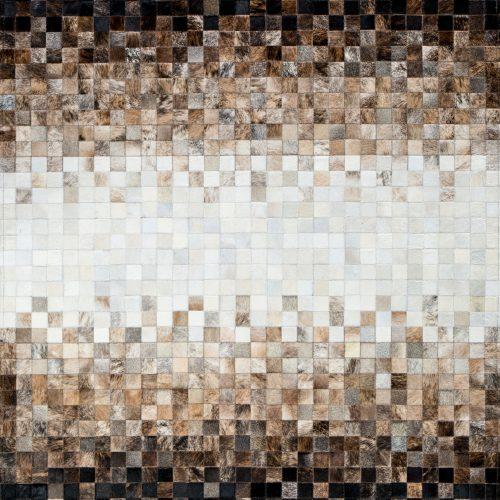 tesselltion cowhide luxury mosaic rug