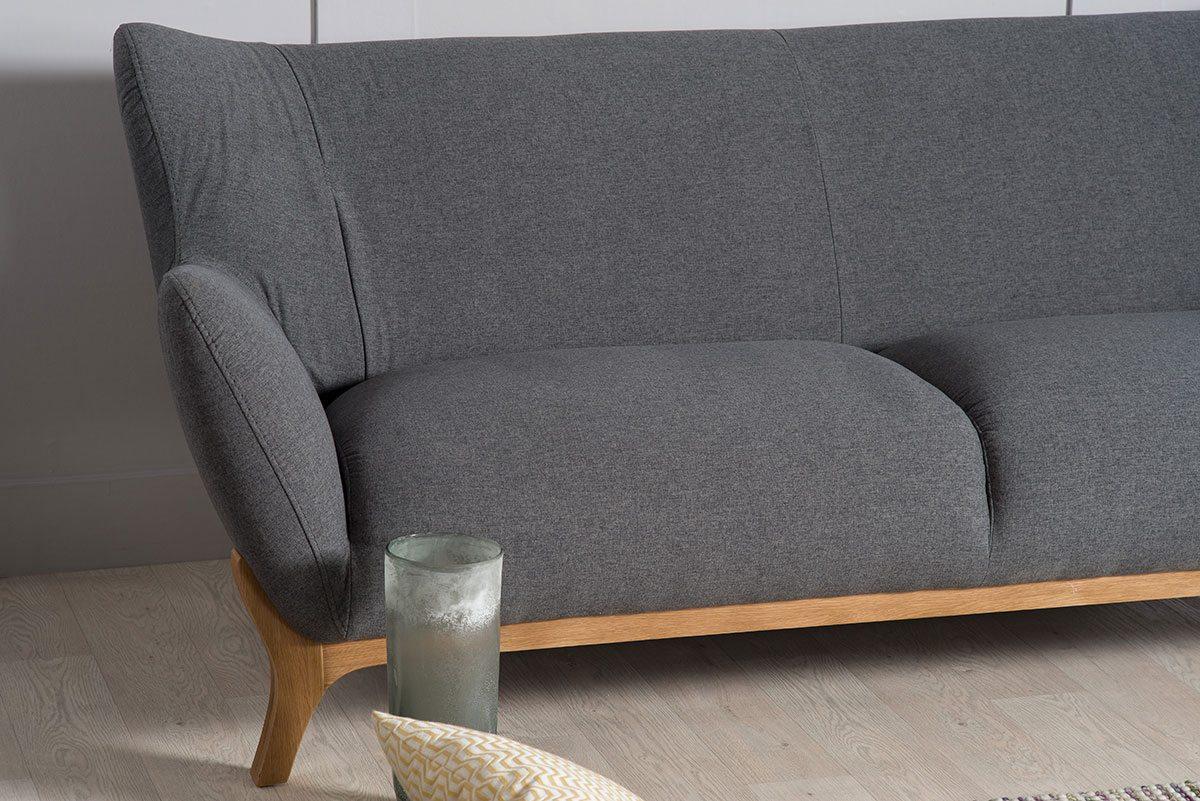 Wesley Three Seater Sofa In Dark Grey