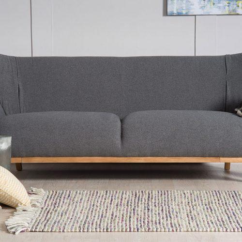 Two Seater Sofa Wesley In Light Grey Bella Casa London