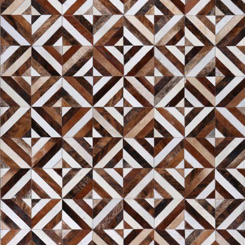 zodia mosaic cowhide luxury rug