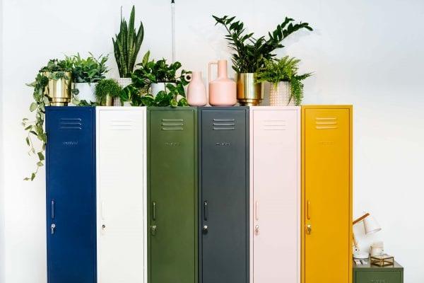 Mustard made skinny vintage lockers