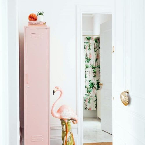 blush pink skinny locker childrens bedroom storage