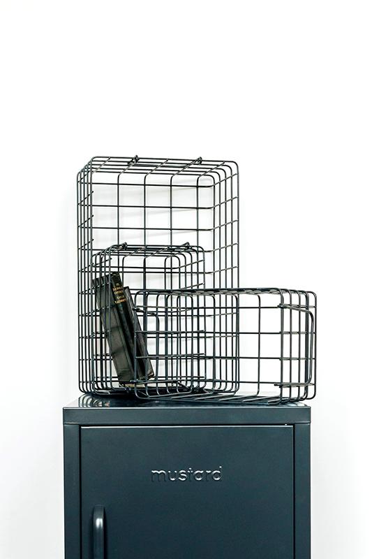 grey wire storage baskets