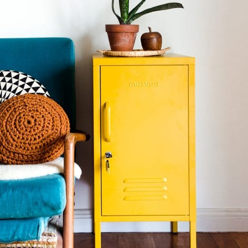 Shorty Locker in Mustard yellow
