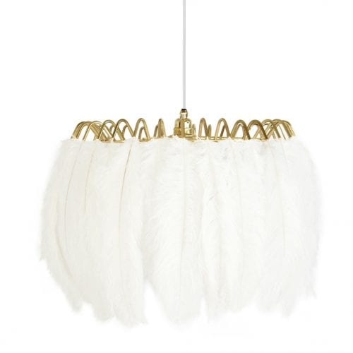 ostrich feather pendant lamp