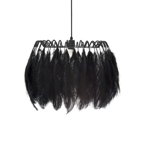 All Black Feather Pendant