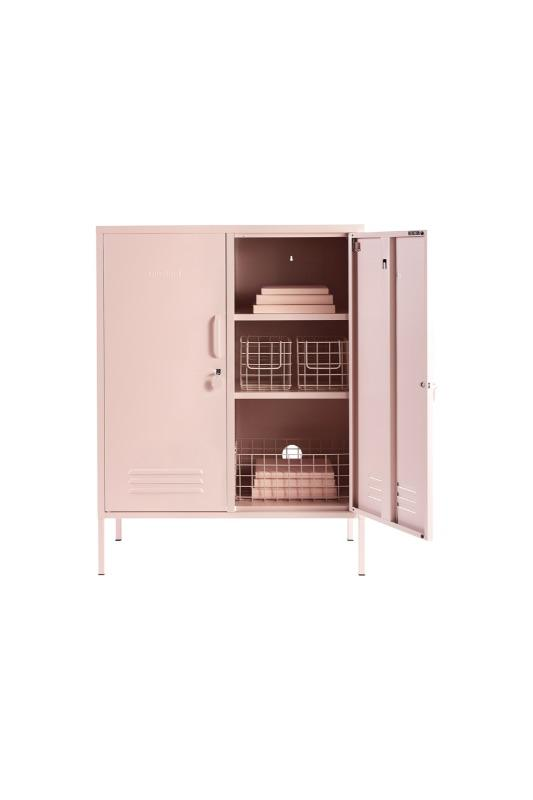 The Midi In Blush Styled With Wire Storage Baskets