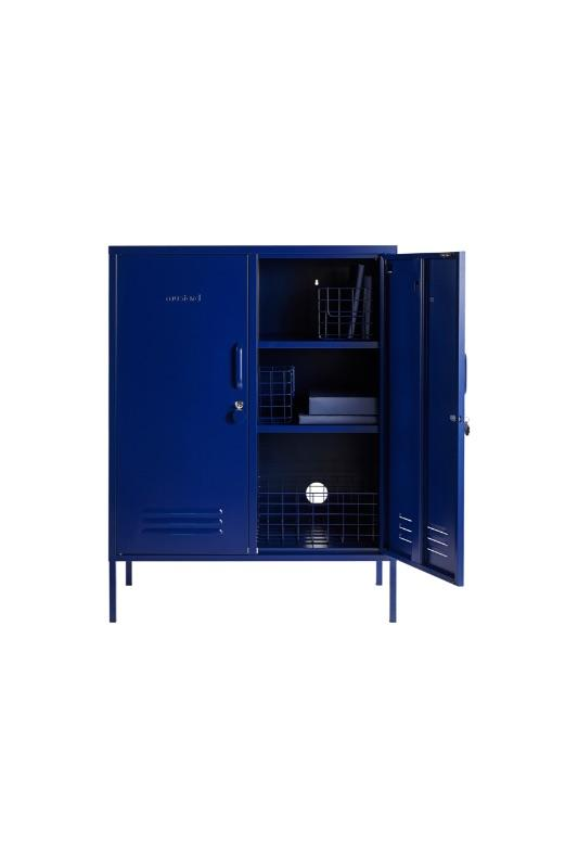 The Midi Locker Open Styled Image With Wire Baskets