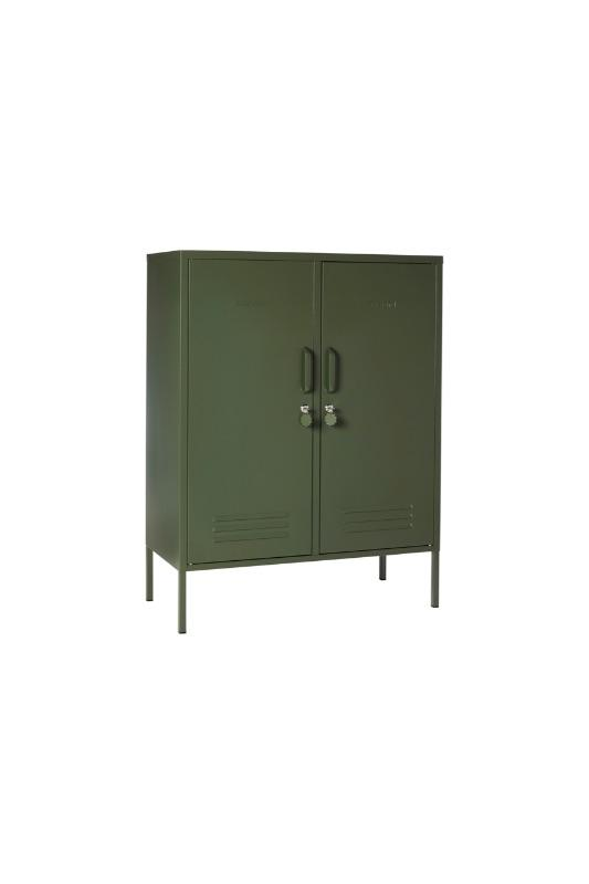 The Midi In Olive Green Vertical Image