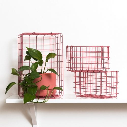 The Baskets In Berry Pink