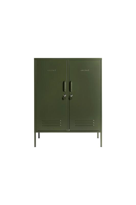 The Midi In Olive Green Front View