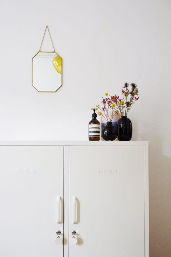 The Midi White Locker Styled In The Bedroom