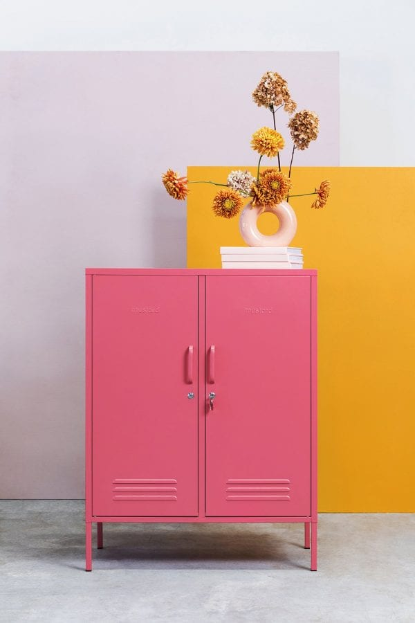 The midi Locker In Berry pink