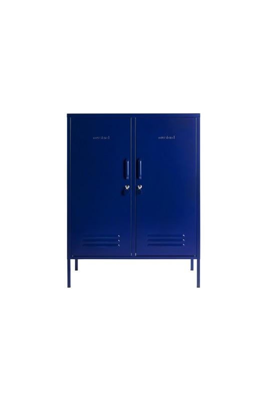The Midi In Navy Blue Front View Image