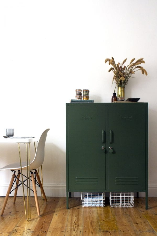 The Midi In Olive Green Lifestyle Image
