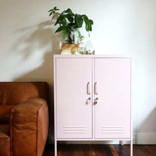 The Midi Blush Pink Storage Locker