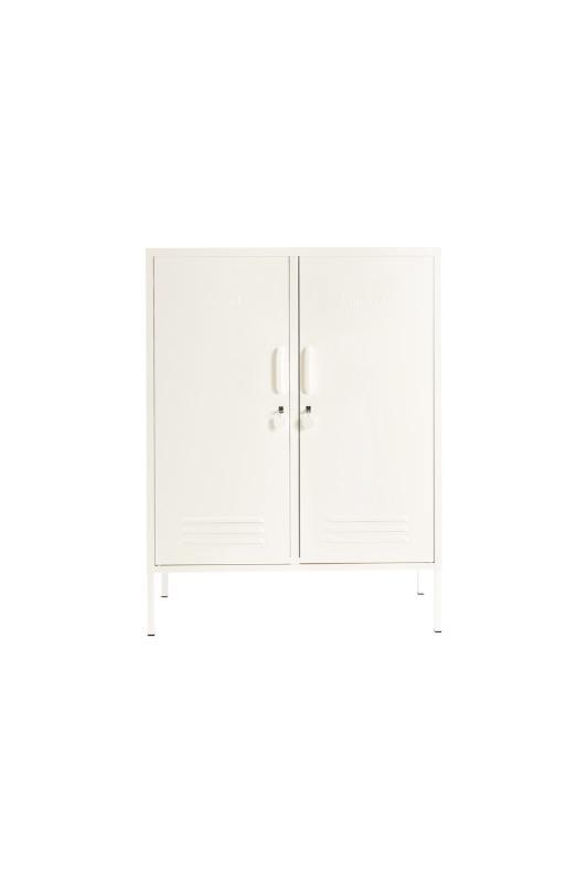 The Midi White Locker Front View