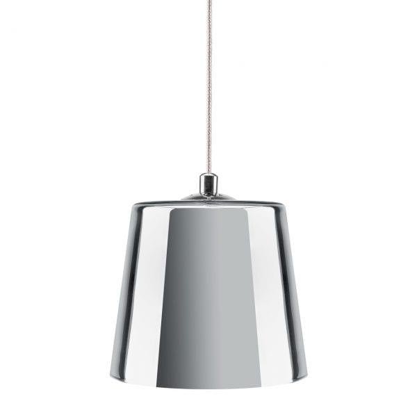 KIKI Chrome Silver Glass Pendant Lamp