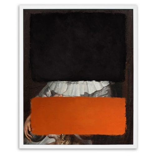 Black & Orange Colours Framed Art Print