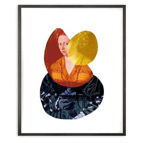 Lady 2 Shape And Colour Framed Art Print