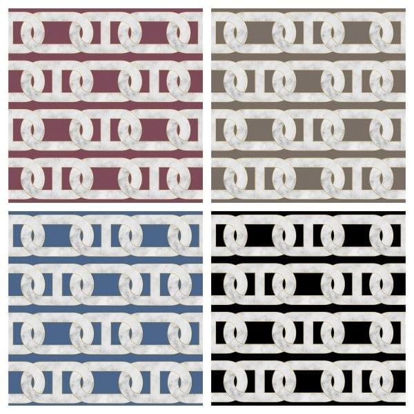 Chain Print Wallpaper Variations