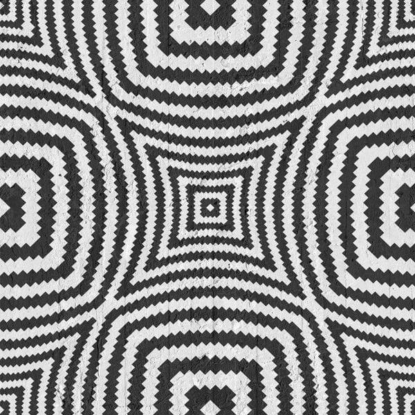 Black Geometric Illusion Circles Wallpaper