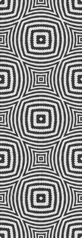 Black Geometric Illusion Circles Wallpaper Roll