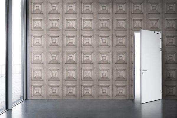 Bleached Oak Victorian Panel Wallpaper