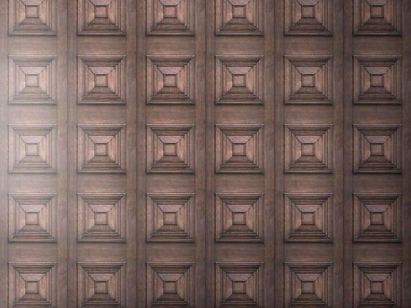 Dark Oak Victorian Panelling Wallpaper