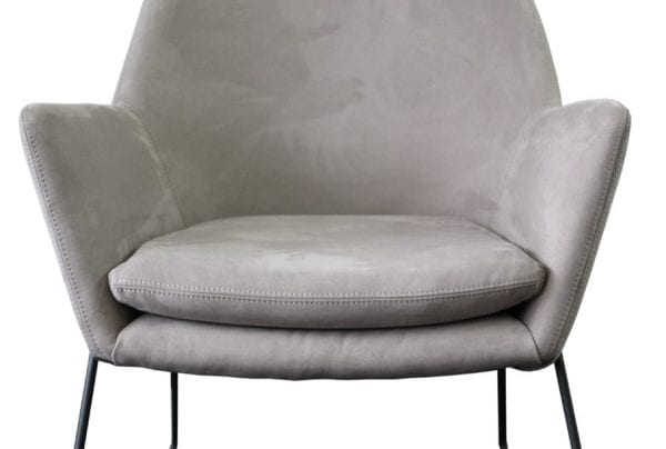 Shoreditch Grey Velvet Steel Frame Accent Chair