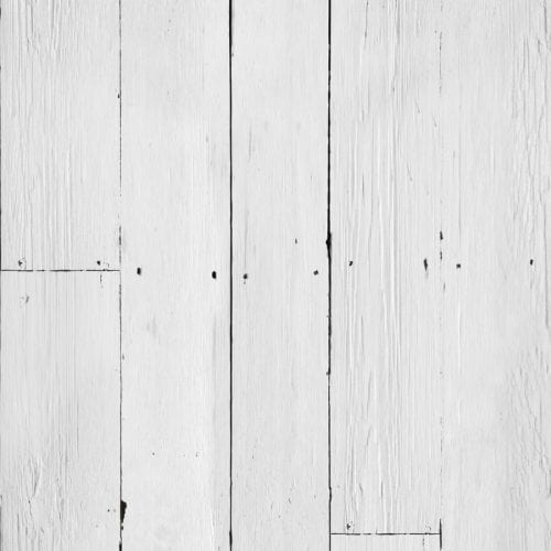 White Plank Effect Wallpaper
