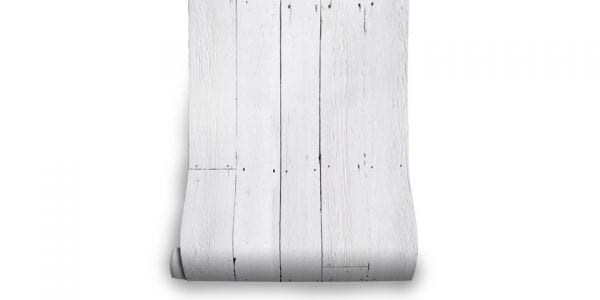 White Plank Effect Wallpaper