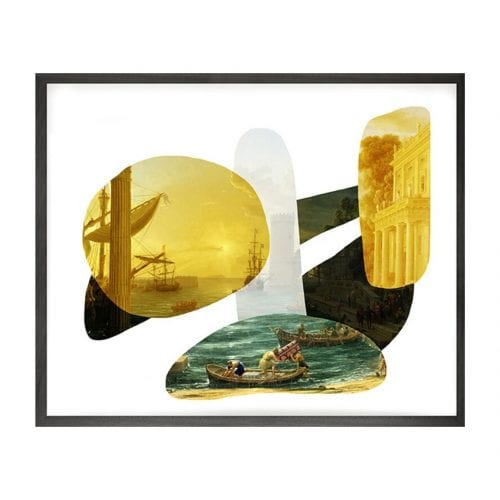 Yellow Shape And Colour Framed Print