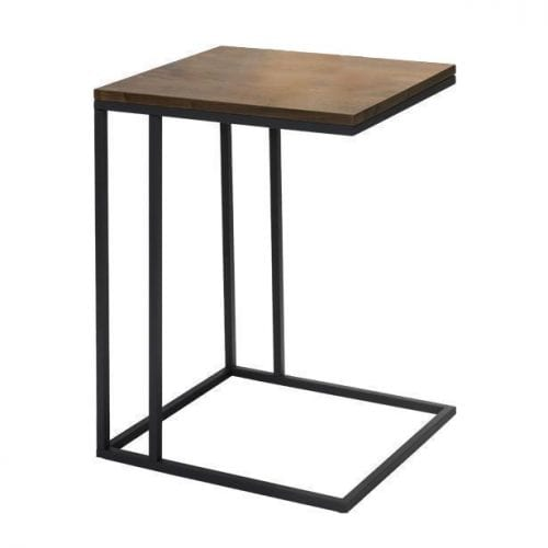 BRENT | WALNUT SIDE TABLE | BELLA CASA LONDON