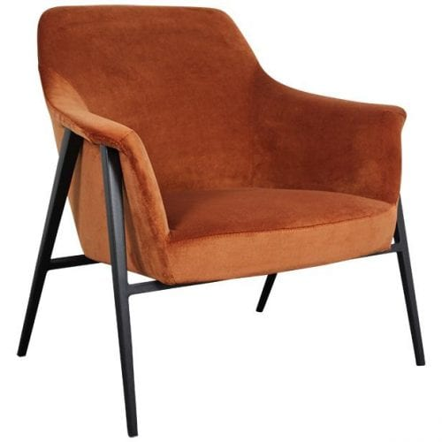 OTTO RUST ORANGE FABRIC ARMCHAIR | BELLA CASA LONDON