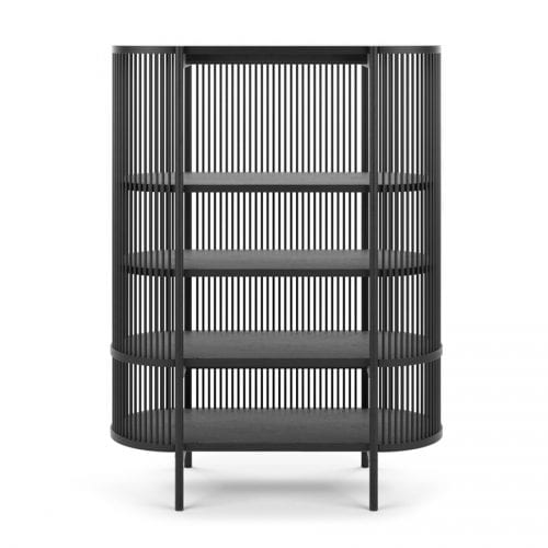 BASTONE CABINET BLACK WITHOUT DOORS | BELLA CASA LONDON